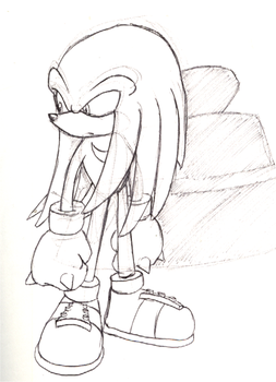 Knuckles sketch by ThePandamis