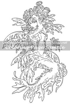 Art of Meadowhaven Coloring Page: Leafy Mermaid by Saimain
