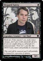 Shepard Fairey MTG Card by MetalShadowOverlord