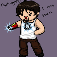Oh man, flashlights. by telepaths