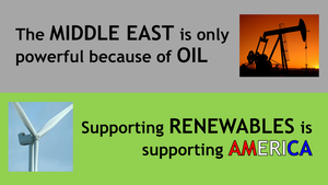 Supporting Renewables Is Supporting America by BudCharles