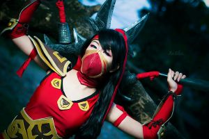 League of Legends: Crimson Akali by JoviClaire