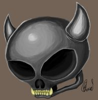 Demin Skull by dark-ape