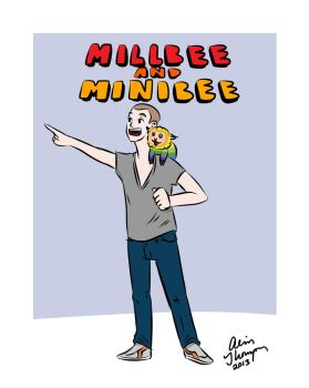 Millbee and Minibee! by paintbrushpuke