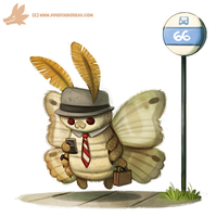 Daily Paint #1091. THE MOTHMAN!! by Cryptid-Creations