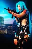 Zombie Hunter Hatsune Miku 2 by Alexia-Jean-Grey