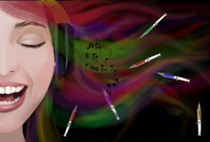 dreaming in rainbow. colors by nehalsadhu