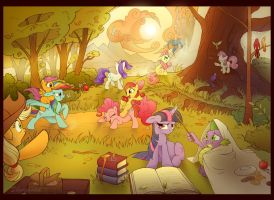 Autumn Picnic by sherwoodwhisper