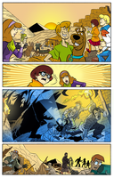 Scooby-Doo - Sequential art page coloring. by andreranulfo