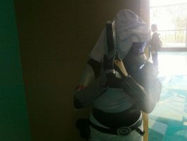 Tali'Zorah Taking Cover by Midnight-Ivy