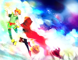 Peter Pan and Red Riding Hood by Shumijin