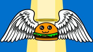 Angel Cheeseburger by Ch33zburgers
