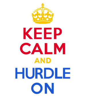 KEEP CALM and HURDLE ON by Scrabblicious
