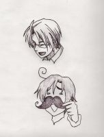 Hetalia Doodles by MouseSky