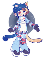 [CLOSED] PATCHWORK BAKENEKO NURSE AUCTION by fleshcell