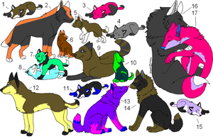 Alot Of Adoptables (OPEN) buy i get one free! by calaper