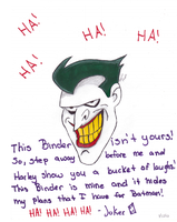Other side of My binder~ The joker by DreamCatcher1247