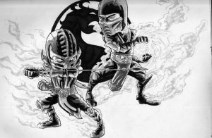 MK9 Timeless Rivalry by BluBoiArt