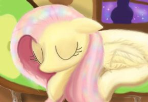 Fluttershy ...Peace and Quiet... in color by IgnacioFox
