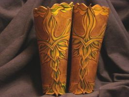 Green Man Bracers by VirtualMessiah