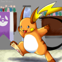 Raichu in a Colosseum by stardroidjean
