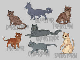 Warriors cats by WillowWhiskers