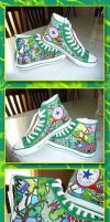 Frog Shoes: for sis b-day by MastaAzumarek