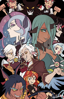 Villains (humanized) by Ssalbug