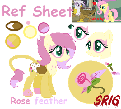 Rose feather's Ref Sheet by SuperRosey16
