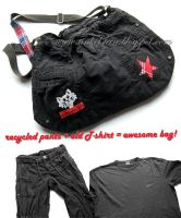 Refashion - Pants to punk bag by tinkelstein