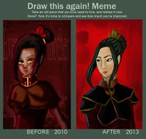 Azula Before and After by Dark-angel-star