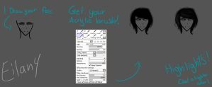 How draw hair {BASIC SAI 1 by eilan6