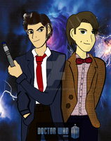 doctor who anime style by nicoflare