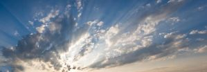cloudy sky himmel strahlen by archaeopteryx-stocks