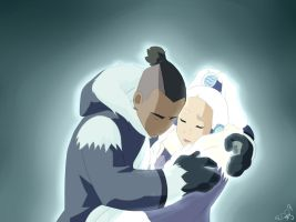 Sokka and Yue - Hold On by MoonshineFeather