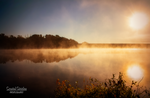 Mellow Foggy Sunrise On The Lake by CrystalGiggles