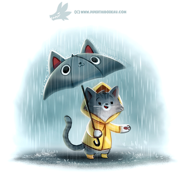Daily Paint 1293. Downpurr by Cryptid-Creations