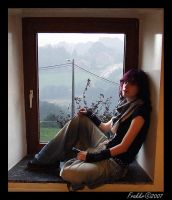 On the window-sill... by Moowna