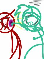 DF Request 10-Teal punching Red in the face by Ai-Amaterasu