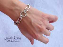 Silver Large Chain Bracelet by ArteDiAmore