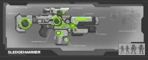 Sci Fi Movie Gun Props concept design by adamski1616