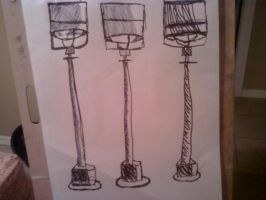 Lampost Drawing by Jeido