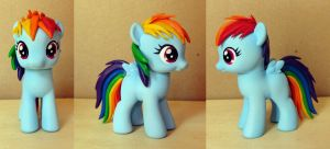 Rainbow Dash filly custom by atelok
