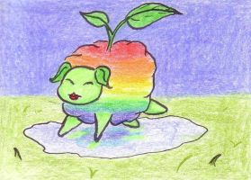 ACEO 14 - Plant-LSD-sheep by juneyleinchen