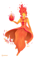 Flame Princess by catpillo