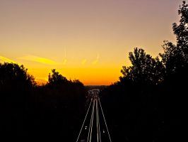 Sunrise over the tracks by gee231205