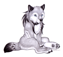 Anthro me by Cayleth
