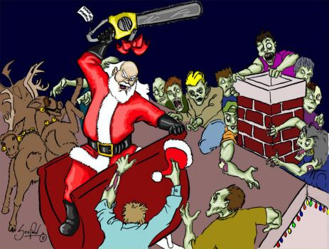 Santa Vs. The Zombies WIP by pscof42