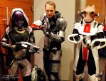 Mordin Shep and Tali at PAX by Danosuke
