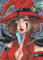 ACEO Witchy V for LotusLumino by nickyflamingo